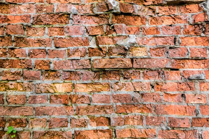 Old light broken Bricks Wall Pattern decoration texture loft interior or exterior royalty free stock photo