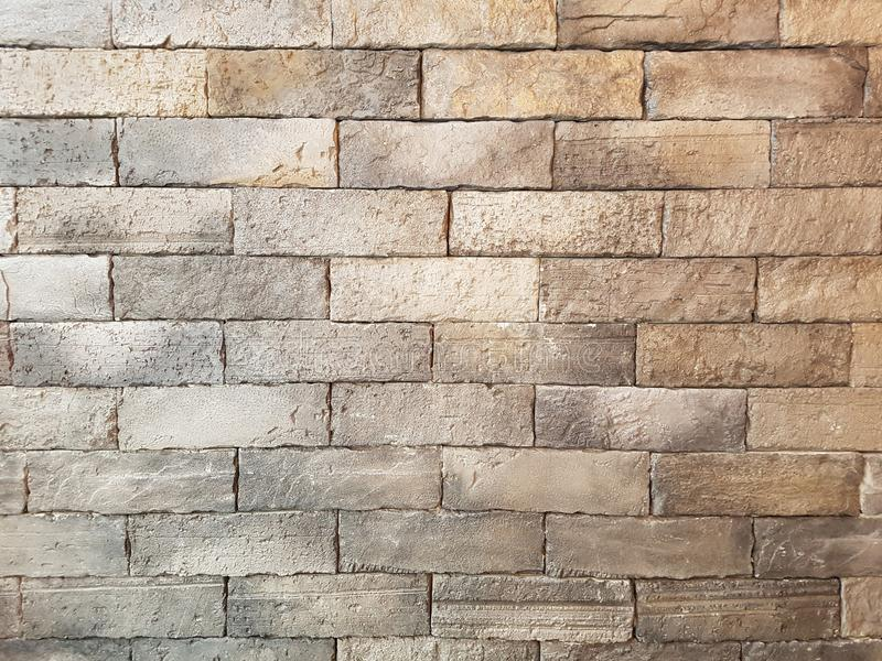 Old light brown vintage brick wall grunge texture background royalty free stock photography