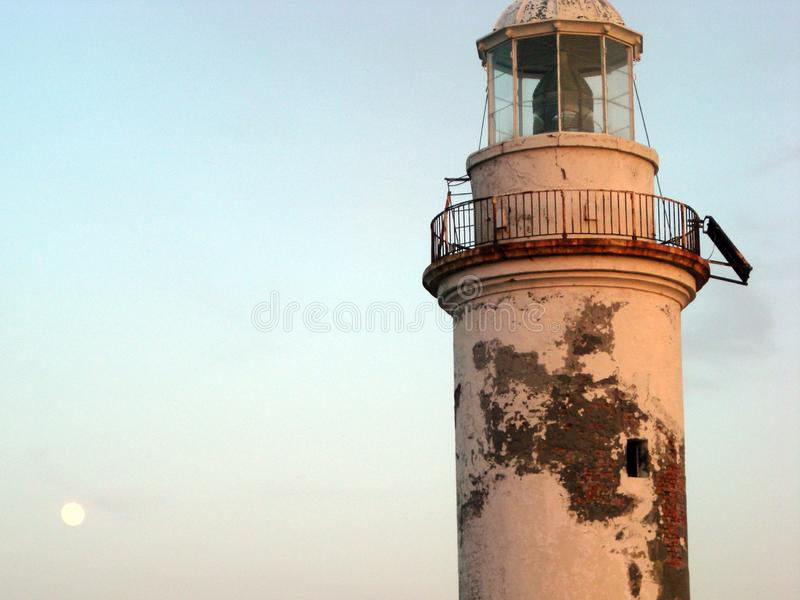 Polente lighthouse at bozcaada canakkale stock image