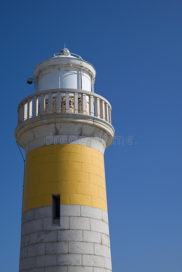 Old lighthouse of Cannes stock photos