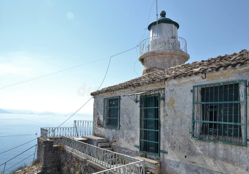 Old lighthouse on Corfu. Greece stock image