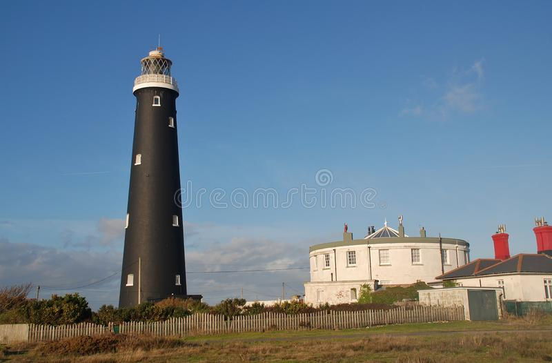 Old lighthouse, Dungeness royalty free stock photos