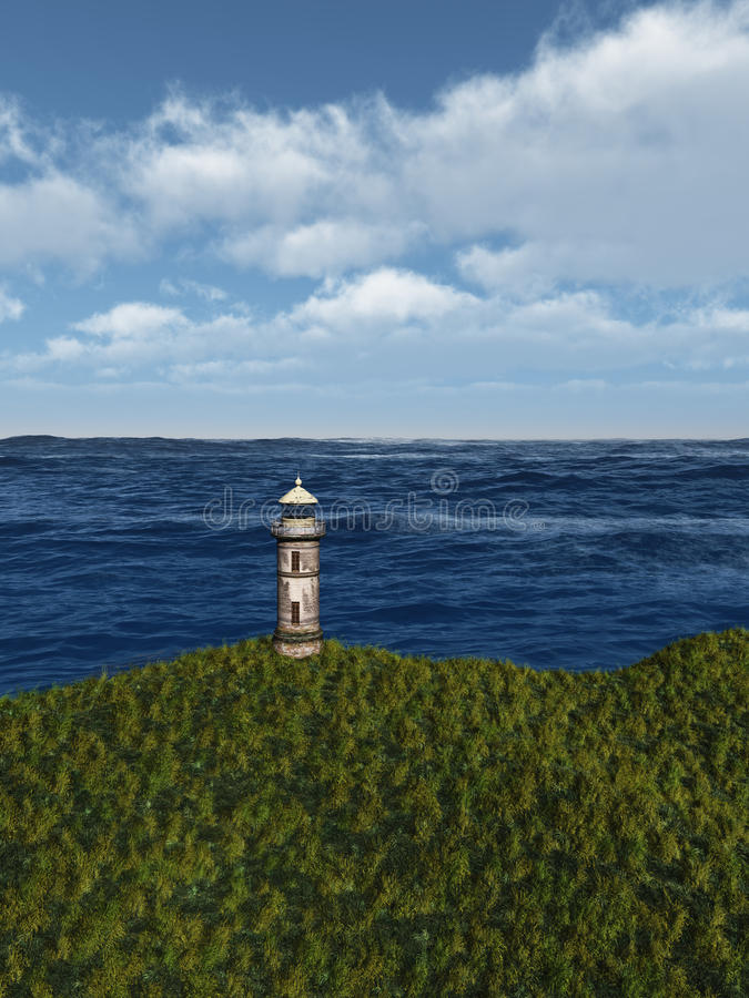 Download Old Lighthouse stock illustration. Image of seascape - 30730784