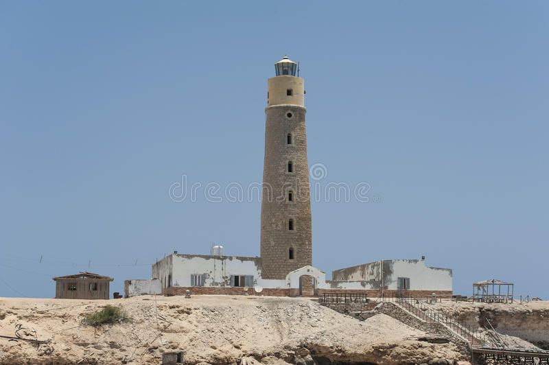 Old Lighthouse On An Island Stock Images
