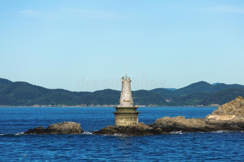 Lighthouse Maritime dangerous rocky Cape royalty free stock images
