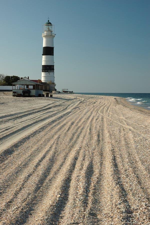 Old lighthouse on Tendra island,Ukraine stock photos