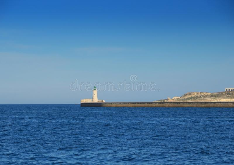 Old lighthouse in Valletta, Malta stock photography