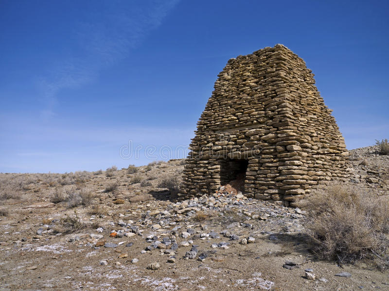 Old Limestone kiln in Northern Nevada. Limestone kiln in the Northern Nevada desert royalty free stock image