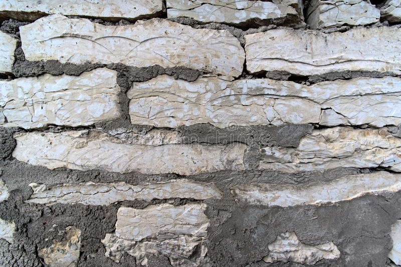 Old limestone wall stock images