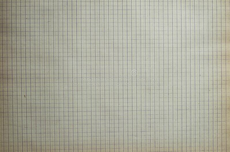 Old lined sheet of notepad crumpled paper royalty free stock photo
