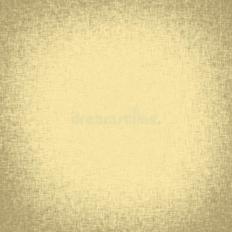 Old linen fabric texture with vignette stock illustration