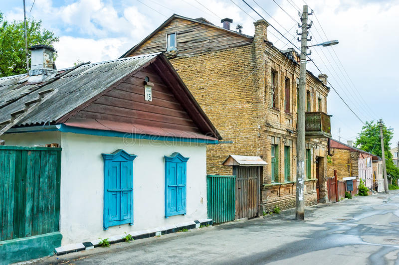 Download Old Little Houses In Kiev Editorial Stock Image - Image: 43264724