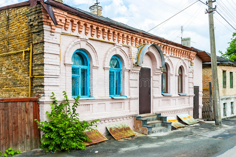Download Old Little Houses in Kiev editorial image. Image of suburb - 43264725