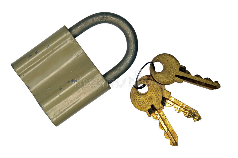 Download The old lock and keys stock photo. Image of hinged, yellow - 7871528