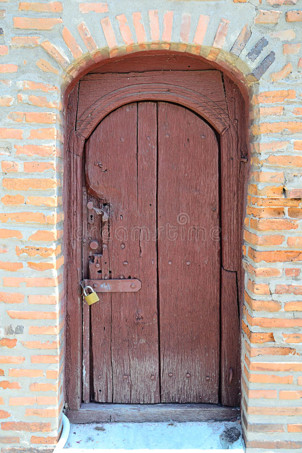 Old Locked Door Stock Photos