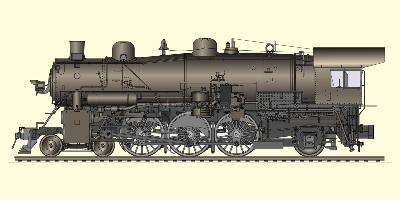 Download Old locomotive stock vector. Image of driver, footplate - 15390353