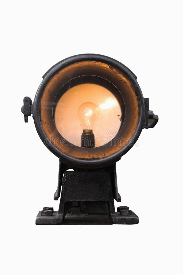 Download Old locomotive headlight stock image. Image of railroad - 11633027