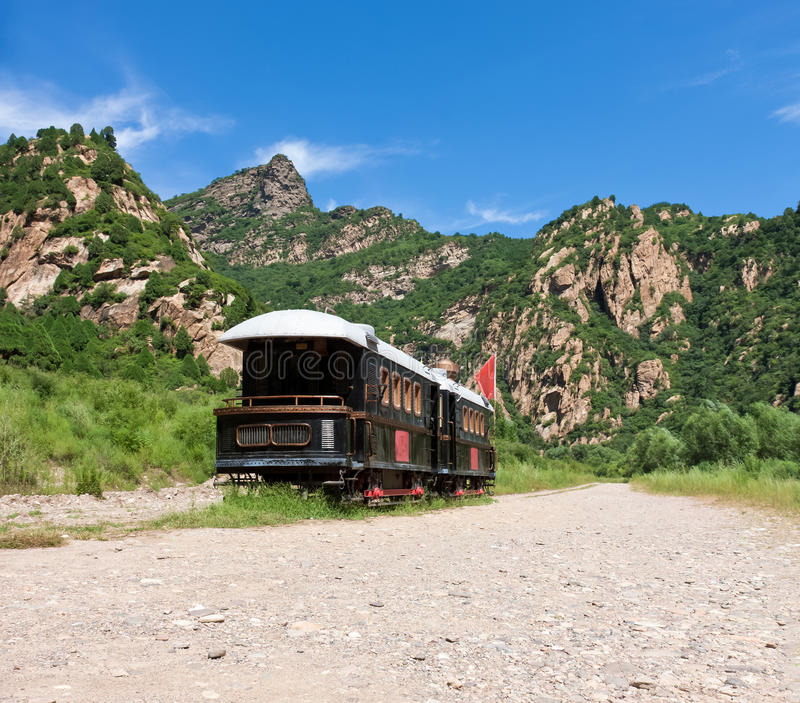 Download Old Locomotive In Mountains Stock Photos - Image: 22937643