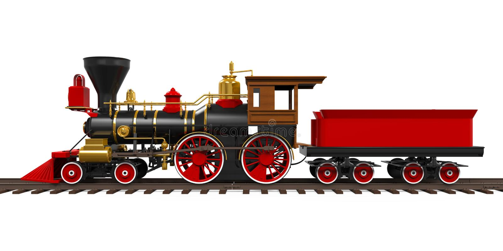 Old Locomotive Train stock illustration