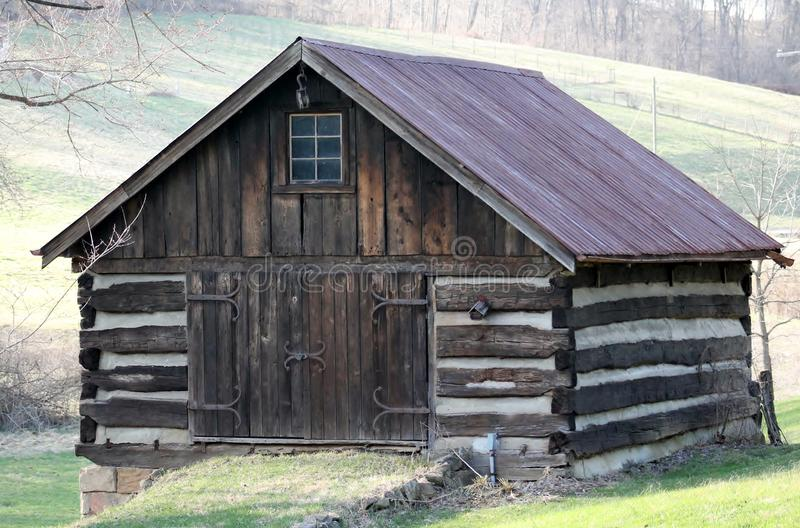 Old Log Building royalty free stock images