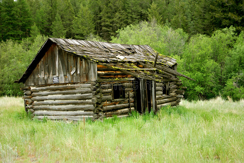 Old Log Cabin Stock Image Image Of Forest Antique Tree