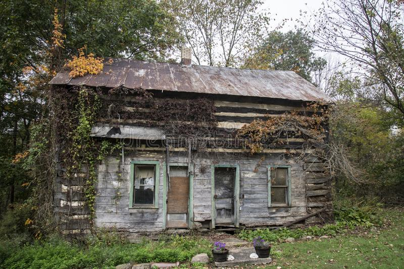 Old log cabin,Ohio stock images
