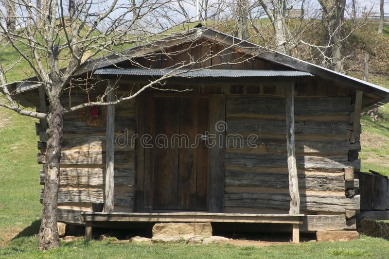Historical log cabin stock photography