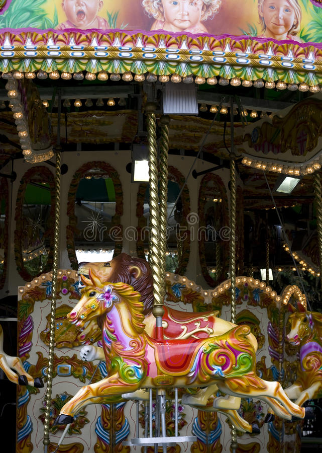 Old London carousel royalty free stock images