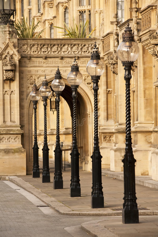 Old London Street Lamps stock image