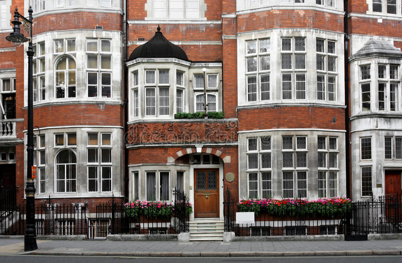 Old London Townhouses stock photo