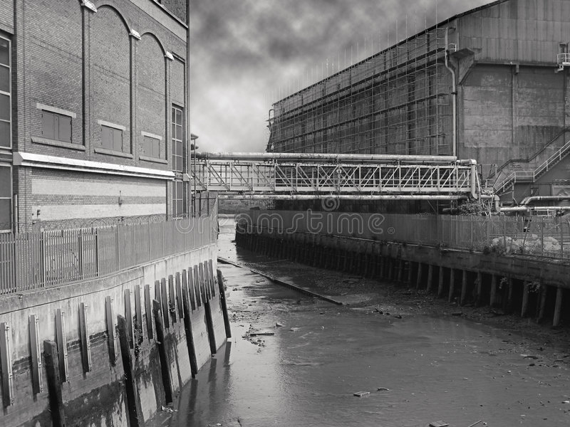 Old London waterfront royalty free stock photography