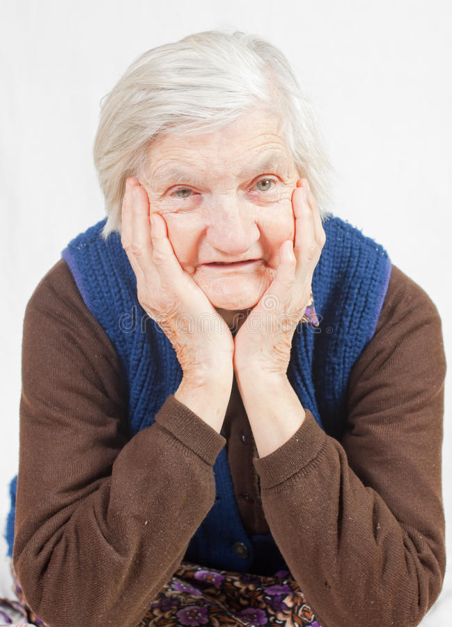 Free Old Lonely Woman Royalty Free Stock Image - 13691646