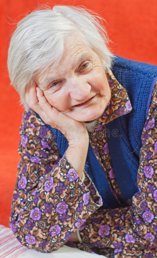 Free Old Lonely Woman Royalty Free Stock Photo - 13699395