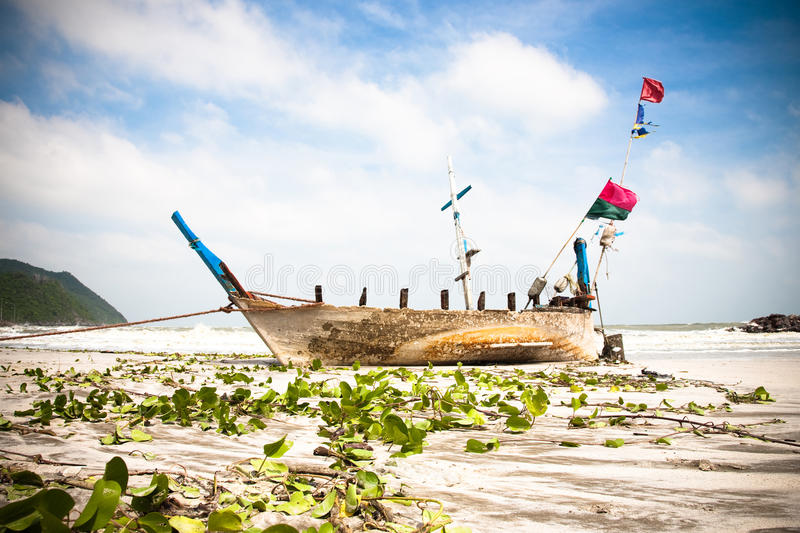 Old Longtail Boat Royalty Free Stock Image