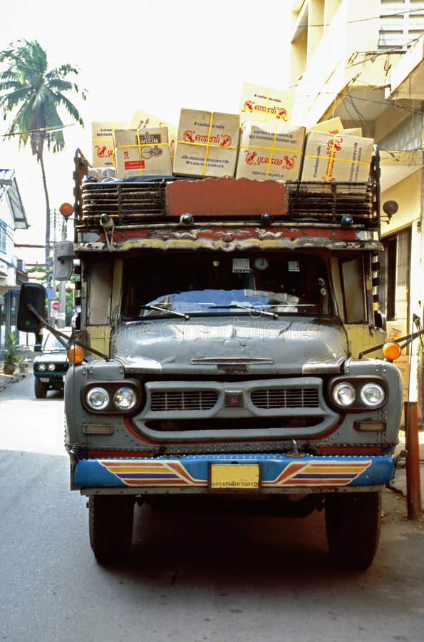 Download Old lorry stock photo. Image of delivery, thailand, shipping - 4593402