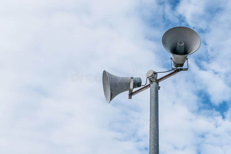 Old loud speakers stock images