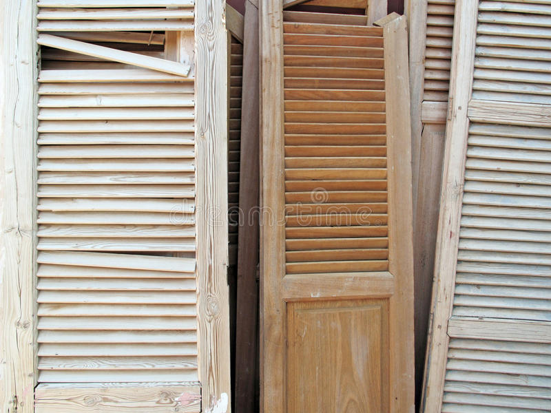 Old Louvered Shutters royalty free stock images