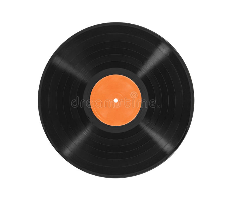 Old LP Record Album Isolated. Old vinyl LP record album isolated with clipping path stock photo