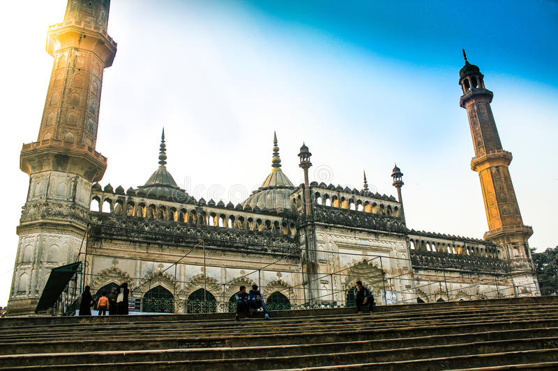 Old lucknow fort imambara. Picture of old lucknow this fort name is baraimambara stock photos