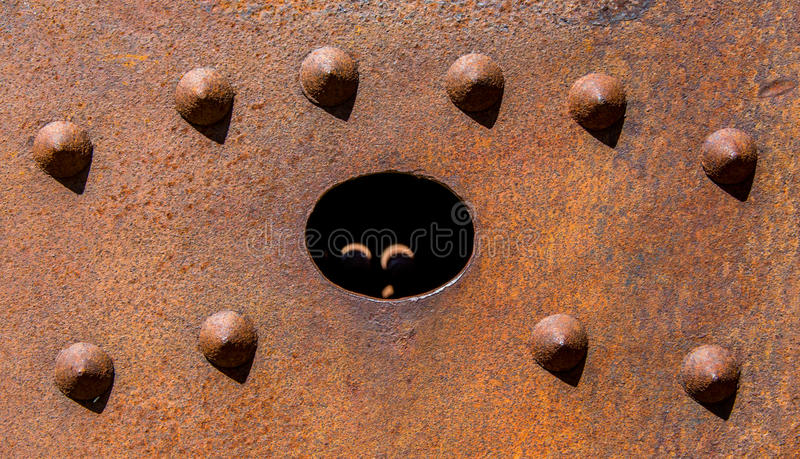 Old Machinery Detail With Rivets 2 stock photography