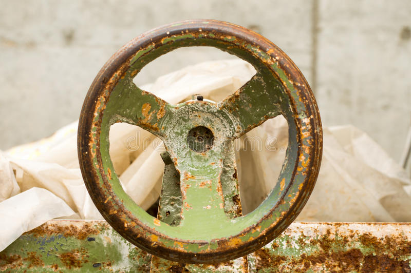 Old machinery and equipments. Old and rusty machinery and equipments stock image