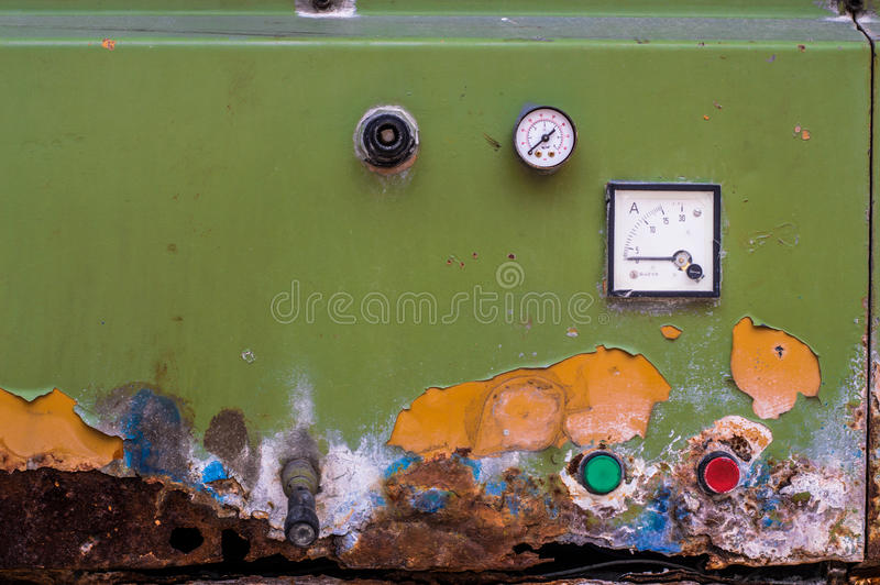 Old machinery and equipments. Old and rusty machinery equipments stock image