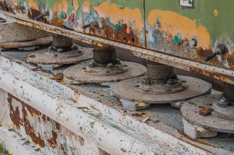 Old machinery and equipments. Old and rusty machinery equipments royalty free stock photos