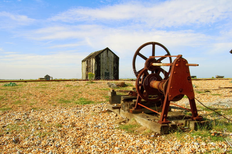 Download Old machinery and shack stock photo. Image of pebbles - 20388070