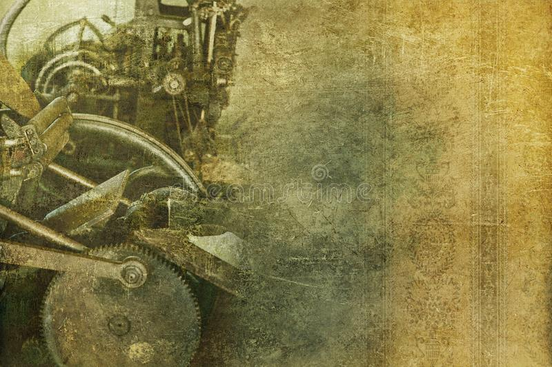 Old Machinery Vintage Background Royalty Free Stock Photography