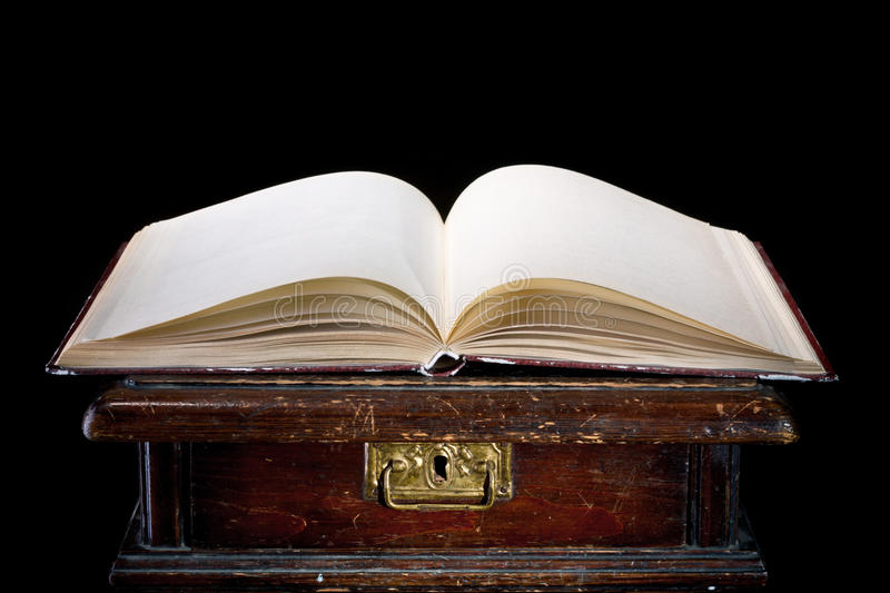 Old magic book. The old magic book on a black background royalty free stock images