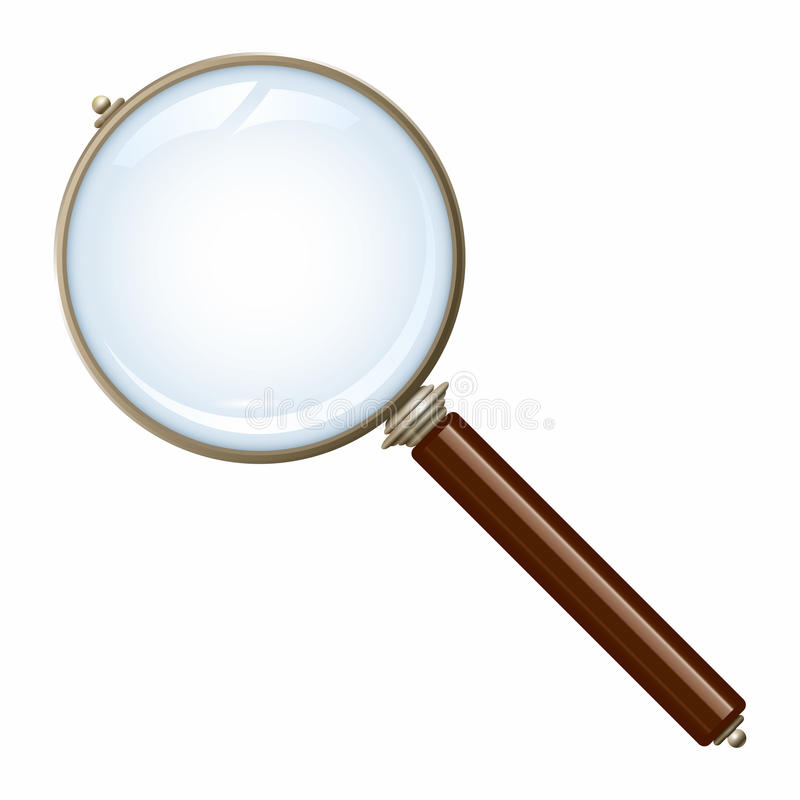 Old magnifying glass royalty free illustration