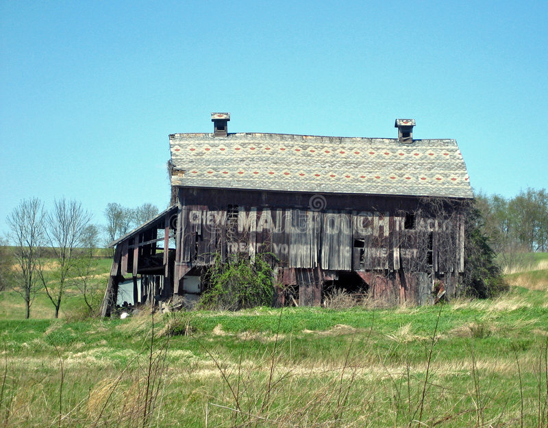 Old Mail Pouch Building stock image