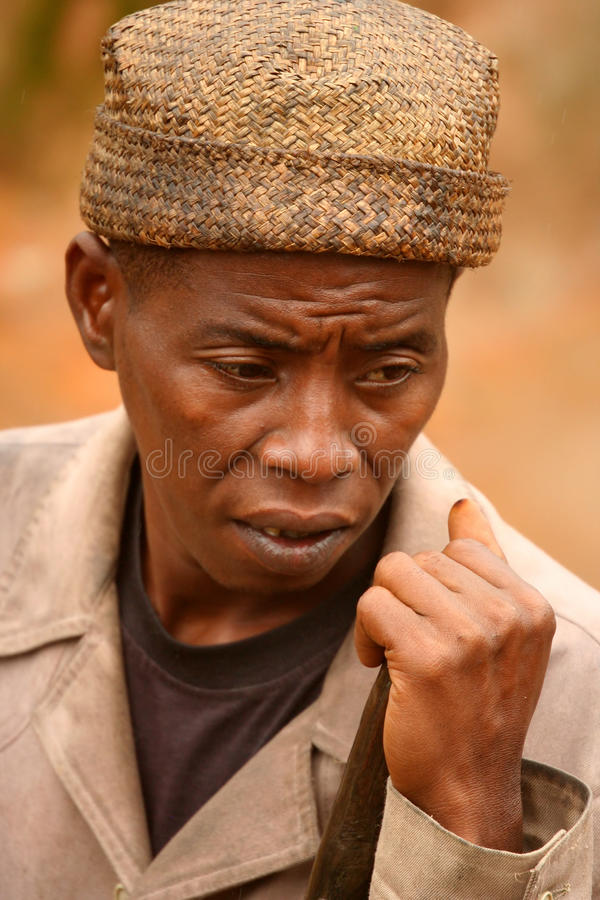Old Malagasy man stock photography