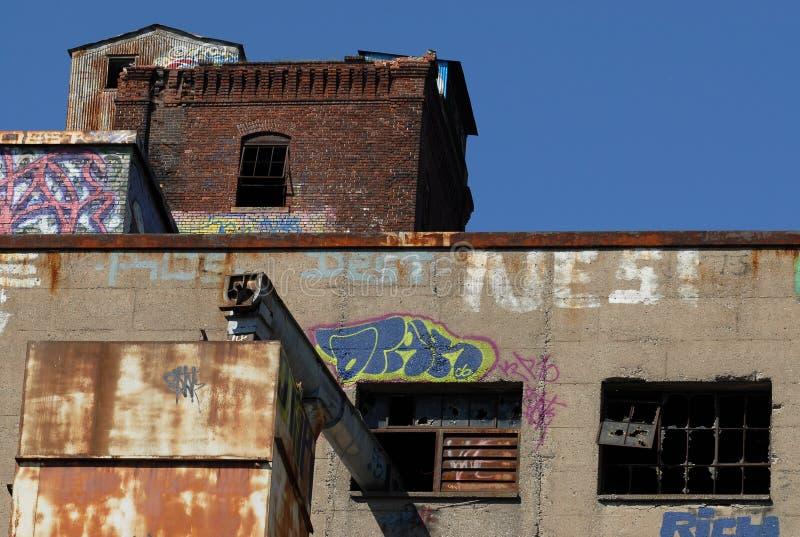 Old malt plant stock photo
